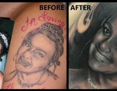 Artista conserta a pior tatuagem do mundo de GRAÇA
