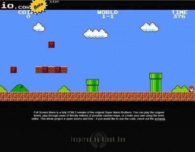 Josh Goldberg cria remake de 'Super Mario Bros.' para navegadores