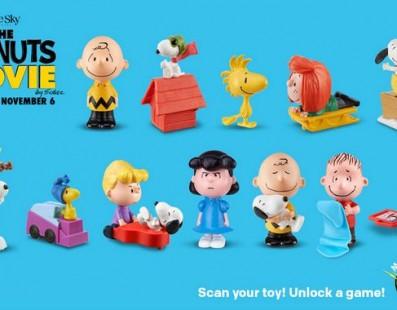 McLanche Feliz trás Snoopy, Charlie Brown e toda turma de Peanuts