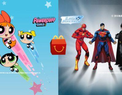 McLanche Feliz trás esse mês Liga da Justiça e Meninas Super Poderosas