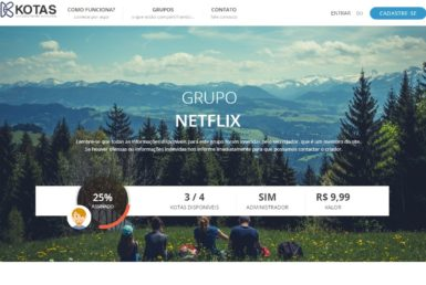 KOTAS: serviço que busca pessoas para dividir contas em serviços como Netflix e Spotify