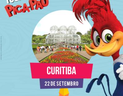 Agora chegou a vez de Curitiba receber o personagem Pica-Pau !