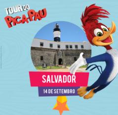 Tour do Pica-Pau esta chegando em Salvador.